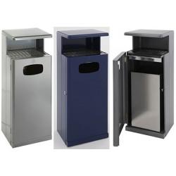 Combiné poubelle et cendrier avec auvent Biarritz 55 L
