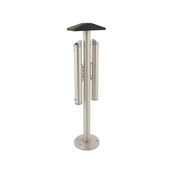 Cendrier totem double capacité aluminium 5,4 L