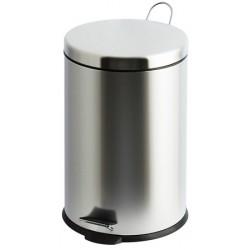 Lot de 2 poubelles à pédale inox brillant 20 litres