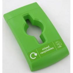 Couvercle déchets mixtes vert pour collecteur compact design