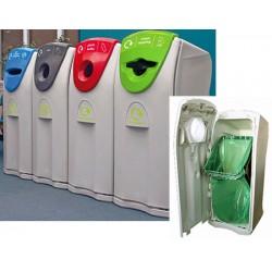 Collecteur maxi capacité tri sélectif avec ouverture déchets mixtes 140 L