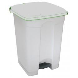 Collecteur JVD à pédale HACCP couvercle blanc 45 L