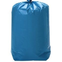 Sacs poubelle bleus 50L à lien coulissant qualité plus 35 microns (le carton de 100)