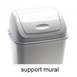 Support mural pour poubelle à couvercle basculant Emilie polypropylène 10 l