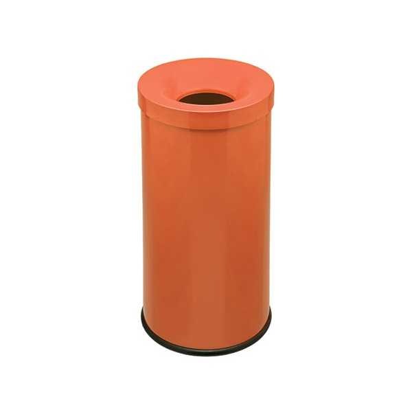 Corbeille antifeu Bastide 50 l orange