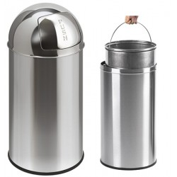 Poubelle Push Can en inox brillant 40 L