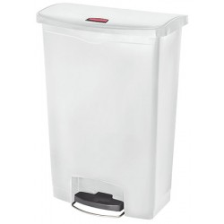 Collecteur à pédale HACCP SlimJim StepOn large 90 L blanc