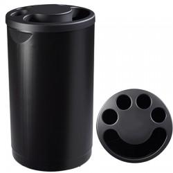 Collecteur de gobelets 800 gobelets noir