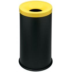 Corbeille antifeu Nina acier 50 l jaune