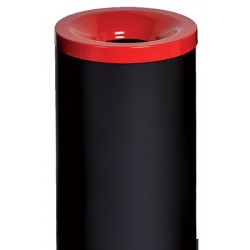 Corbeille antifeu Nina acier 50 l rouge