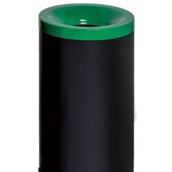 Corbeille antifeu Nina acier 90 l vert