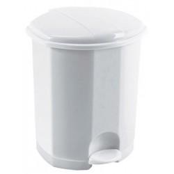 Poubelle à pédale Eco en plastique blanc 7L