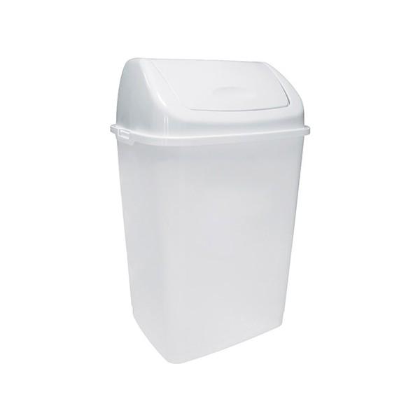 Poubelle plastique à couvercle basculant Facile 10L blanc