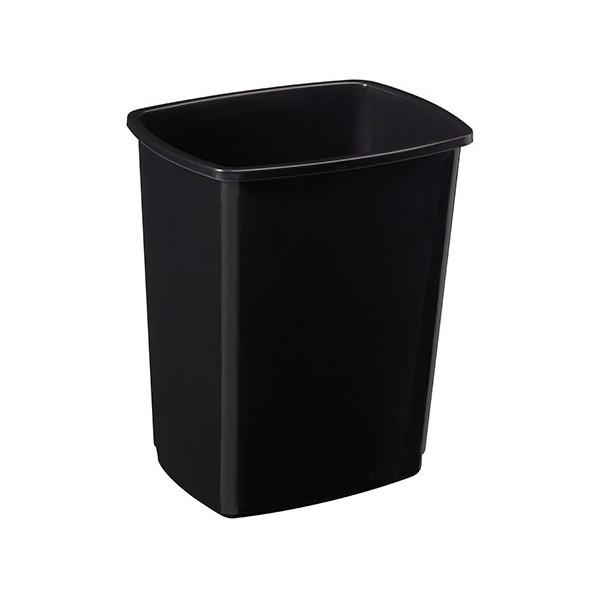 Corps poubelle basculant plastique Facile 50L noir