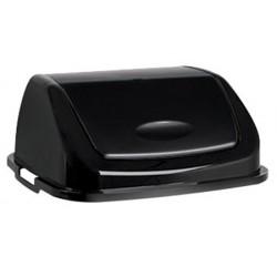 Couvercle basculant plastique Facile 50L noir noir