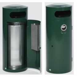 Ensemble poubelle 70L cendrier 4,5L Kona