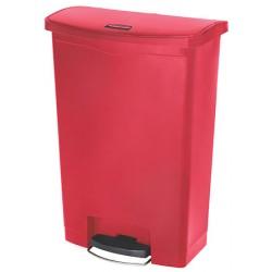 Collecteur à pédale HACCP SlimJim StepOn large 90 L rouge