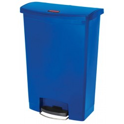 Collecteur à pédale HACCP SlimJim StepOn large 90 L bleu