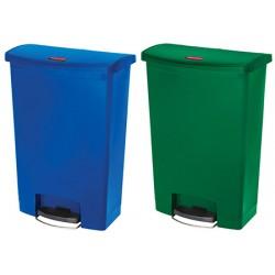 Collecteur à pédale HACCP Slimjim StepOn large 68 L bleu ou vert