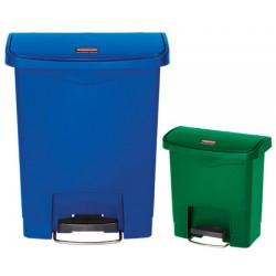 Collecteur à pédale HACCP Slimjim StepOn large 30 L bleu ou vert