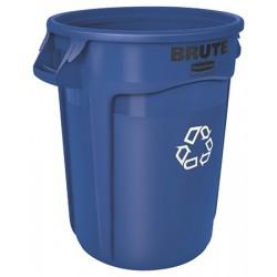 Collecteur Brute avec conduits d'aération 75,7 L bleu recyclage