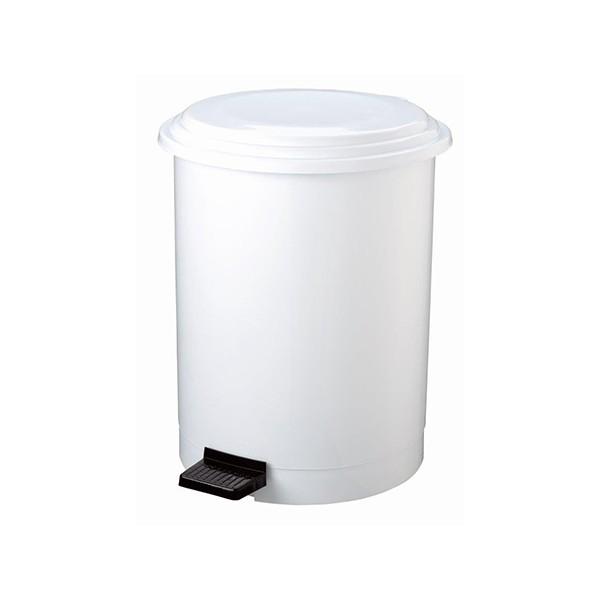 Poubelle à pédale plastique blanc 3 L