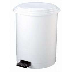 Poubelle à pédale plastique blanc 12 L