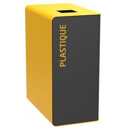 Poubelle de tri sélectif Cube 65 L Tri plastique sans serrure