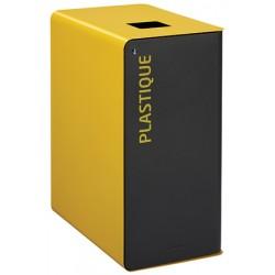 Poubelle de tri sélectif Cube 65 L Tri plastique avec serrure