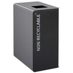 Poubelle de tri sélectif Cube 65 L Tri déchets non recyclables avec serrure