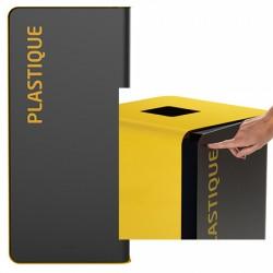 Poubelle de tri sélectif Cube 40 L Tri plastique sans serrure