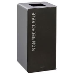 Poubelle de tri sélectif Cube 40 L Tri déchets non recyclables sans serrure