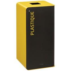 Poubelle de tri sélectif Cube 40 L Tri plastique avec serrure