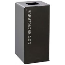 Poubelle de tri sélectif Cube 40 L Tri déchets non recyclables avec serrure