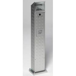 Cendrier sur pied Chèvrefeuille en aluminium Anodisé L18xP15xH115 cm