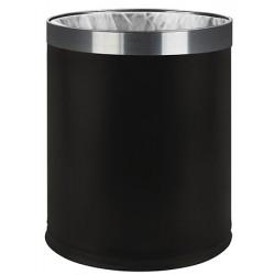 Corbeille à papier double paroi 7 L noir (le lot de 6)