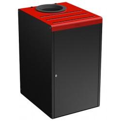 Meuble de tri sélectif 90L pour restauration collective gris et rouge 3020