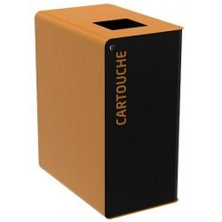 Poubelle de tri sélectif Cube 60L tri cartouches avec serrure