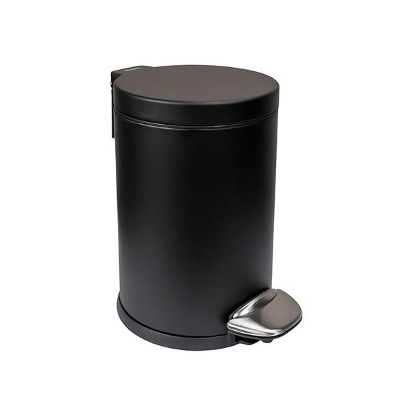 Poubelle à pédale inox noir mat Nexxus 3 L