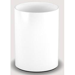 Corbeille ronde laquée blanc 5 L