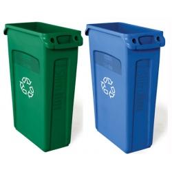 Collecteur Slim Jim couleurs recyclage 87 L