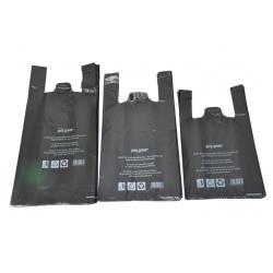 Sacs bretelles BD noir 26+12x45 (Le carton de 500)