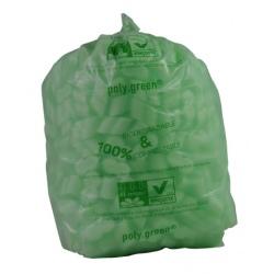 Sacs type 130L soudure étoile vert biodégradable 820x1150 (le carton de 100)