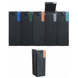 Station de tri sélectif 100% recyclée Plastiques 70 L  L 43 x L 28 x H 77,1 cm