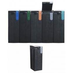 Station de tri sélectif 100% recyclée Autres Déchets 70 L  L 43 x L 28 x H 77,1 cm