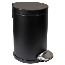 Poubelle à pédale inox noir mat Nexxus 5 L