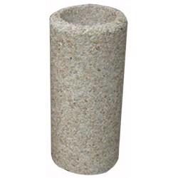 Cendrier béton diam 32xH70 cm gravillons lavés gros
