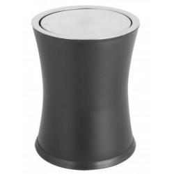 Corbeille à papier à couvercle basculant 8 L noire