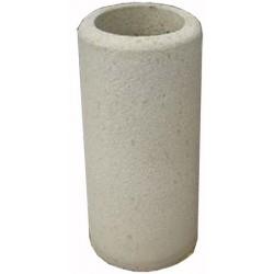 Cendrier béton diam 40xH75 cm ton pierre sablé
