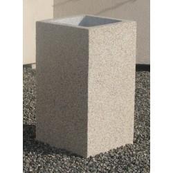 Cendrier Litchi plus gravillon lavé 41x41xH72 cm
